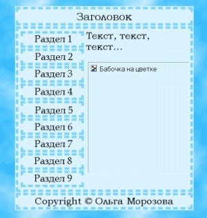 Вид страницы с отключенной графикой