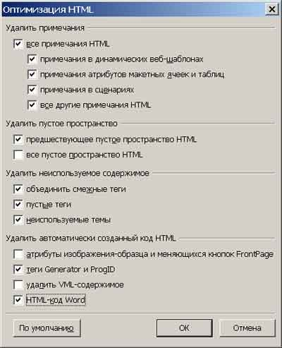 Окно оптимизация html