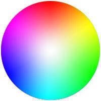 цветовой круг с оттенками